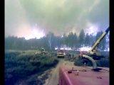 Верховой пожар п. Радовицы, Московская область 29.07.10г